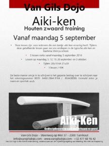 Aiki ken 5x vanaf maandag 05-09-2016