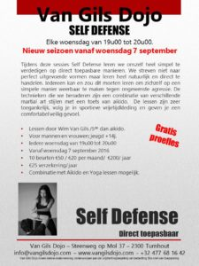 Self Defense vanaf 7 september